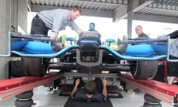 2012 Izod IndyCar Tech Inspection
