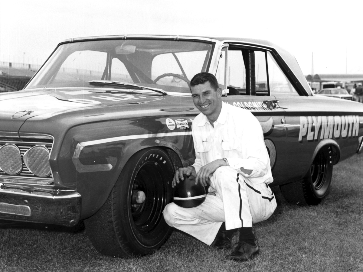 Paul Goldsmith & Nichels Engineering Debut the Chrysler Hemi at Daytona International Speedway in the 1964 Daytona 500  ...