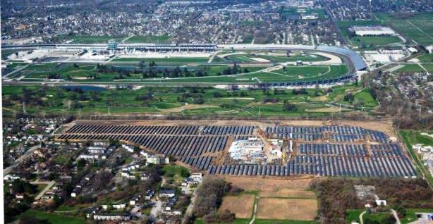 Solar Farm by Air