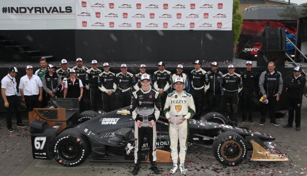 Josef Newgarden and Luca Filippi sweep the top two positions in the Honda Indy Toronto -- Photo by: Chris Jones for IndyCar