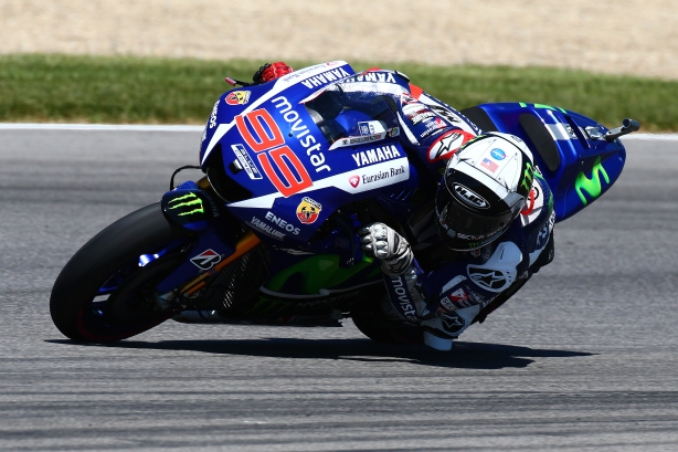 Jorge Lorenzo at speed -- Image by Bret Kelley for the Indianapolis Motor Speedway