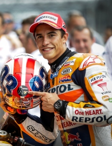 Marc Marquez wins pole position for the 2015 Red Bull Indianapolis GP - Image by Shawn Gritzmacher