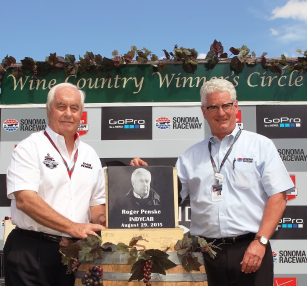 Roger Penske is inducted into the Sonoma Raceway Hall Of Fame - Image by Richard Dowdy