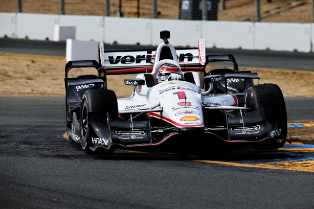 Will Power apexes Turn 9A during practice for the GoPro Grand Prix of Sonoma at Sonoma Raceway -- Image by Chris Jones for IndyCar