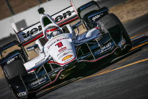 Will Power exits the Turn 9A chicane complex during qualifications for the GoPro Grand Prix of Sonoma at Sonoma Raceway - Image by Shawn Gritzmacher