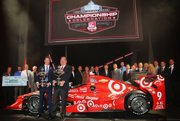 Scott Dixon, Chip Ganassi, and the Target Chip Ganassi Racing team are the 2015 Verizon IndyCar Series Champions - Image by Chris Jones