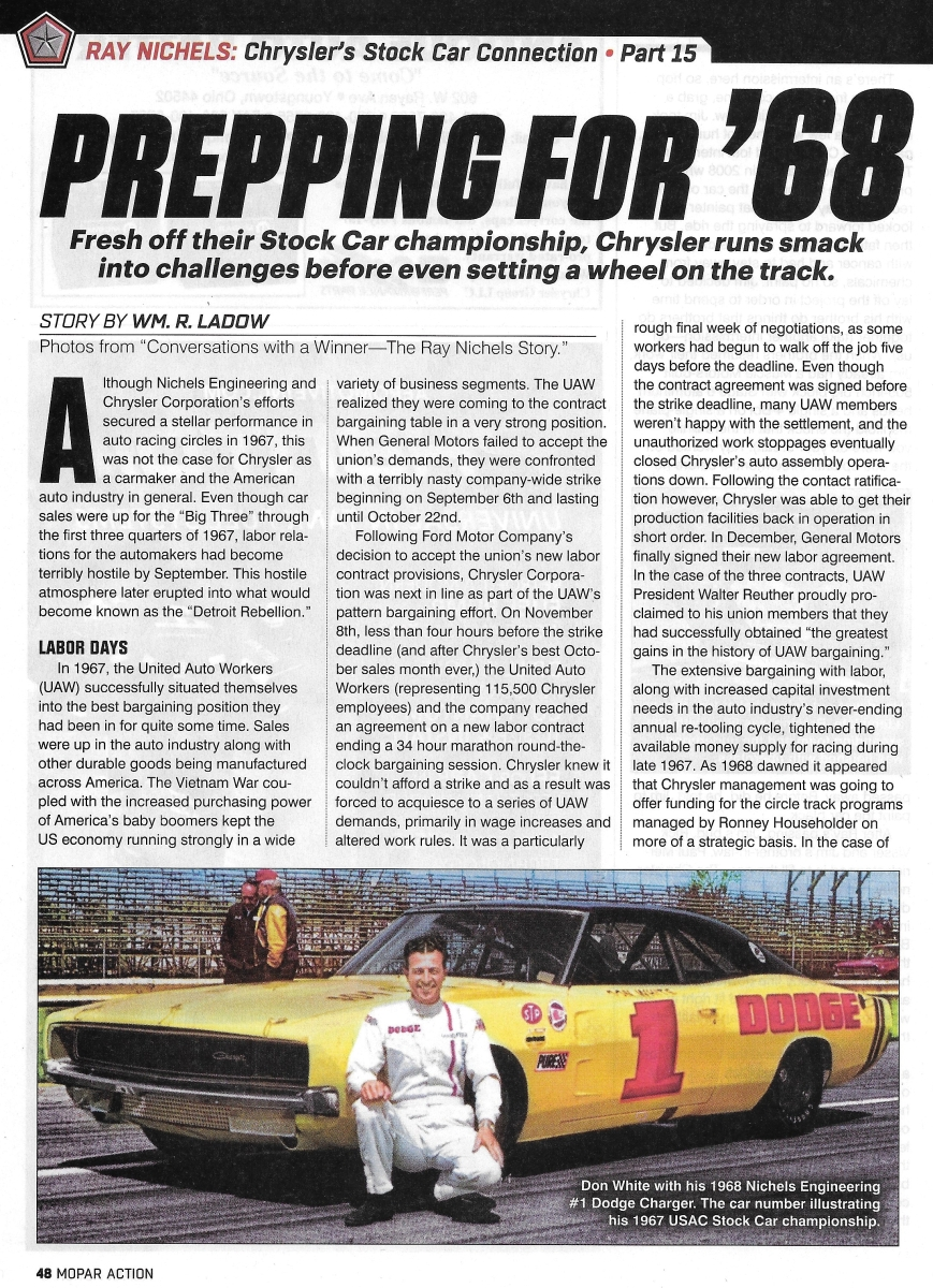 Mopar Action Magazine … The Ray Nichels Story ...