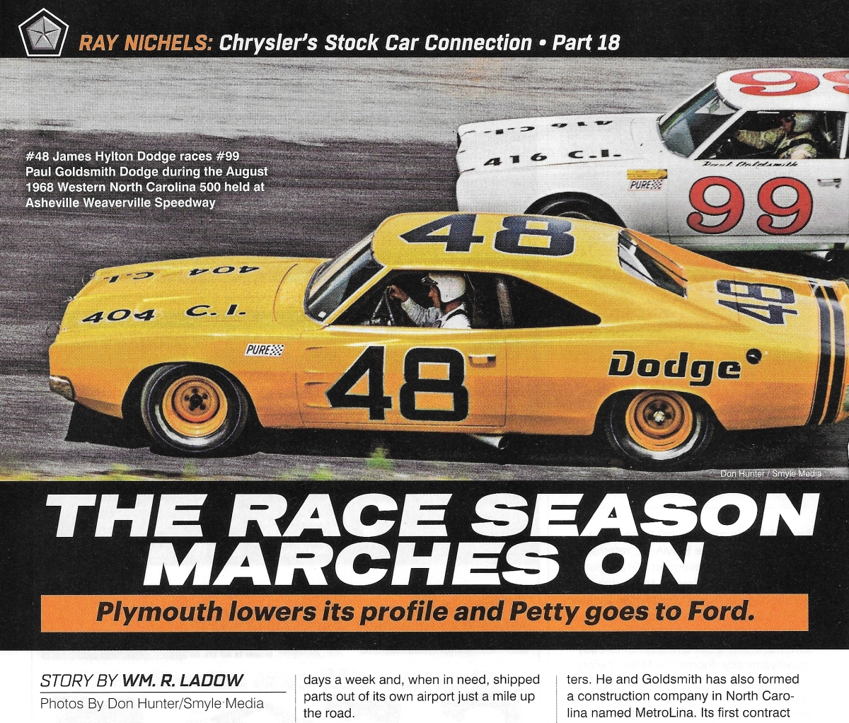 "Part #18 — New book excerpt from the ""Ray Nichels Story"" by Wm. LaDow -– published in Mopar Action Magazine …"