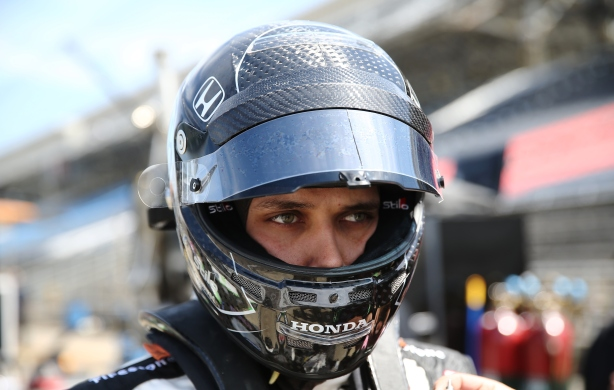 Bryan Clauson prepares for practice for the 100th Running of the Indy 500l - Image by Chris Jones