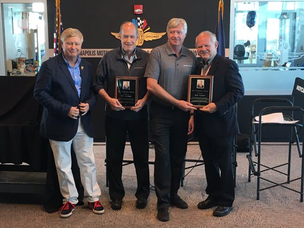 MIchael Knight, T.E. McHale, Dan Layton and Paul Page during the presentation of the Jim Chapman Award