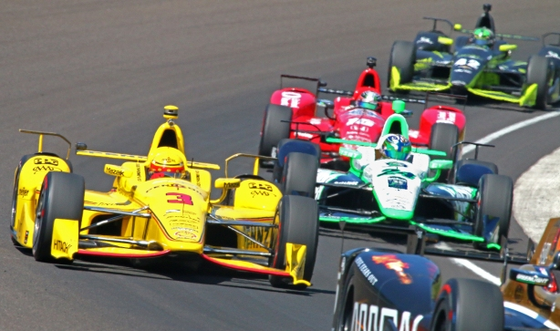 IndyCar on track for practice for the 100th Running of the Indianapolis 500 -- Image by Mike Harding