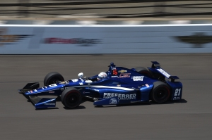 Josef Newgarden at speed at the Brickyard - Image by Chris Owens.jpg