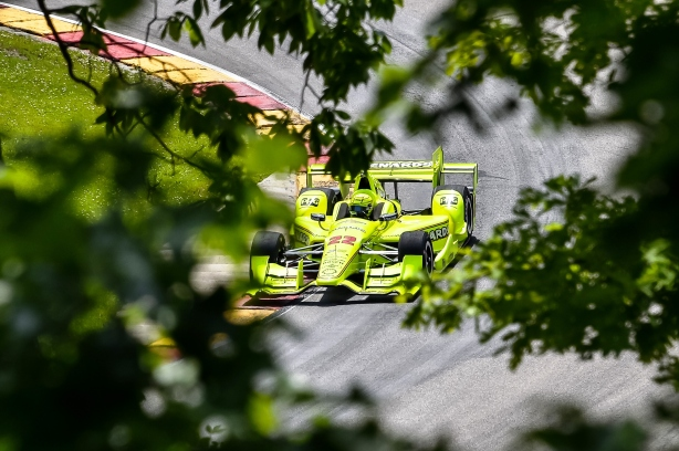 Team Penske's Simon Pagenaud on course during the open test at Road America -- IndyCar Image by: Chris Owens