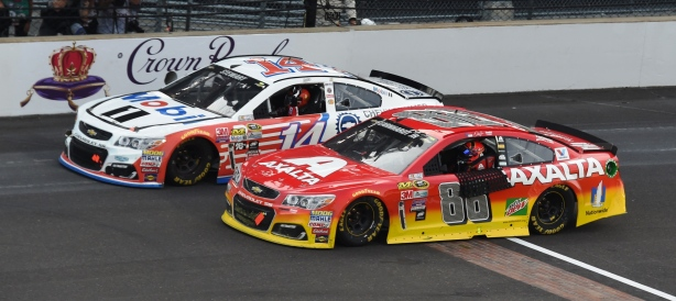 Tony Stewart an Jeff Gordon take one last lap at the storied Brickyard - Indianapolis Motor Speedway Image by Jim Haines