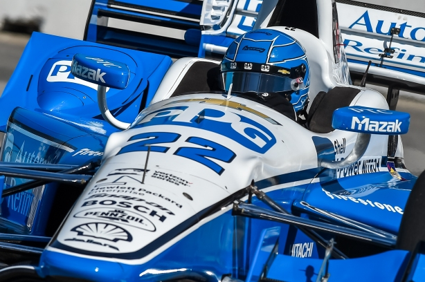 Simon Pagenaud on course during practice for the Honda Indy Toronto -- Image by Chris Owens