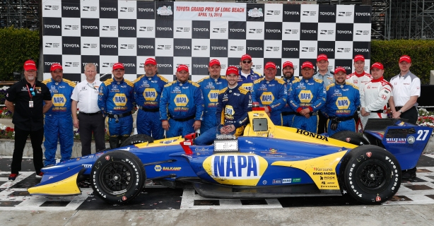 Alexander Rossi and Andretti Autosport win the 2018 Toyota Grand Prix of Long Beach -- Photo by Joe Skibinski